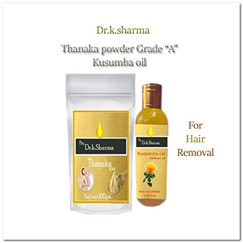 Thanaka Powder 100 Gm Kusumba Oil 100 Ml For Permanent Hair