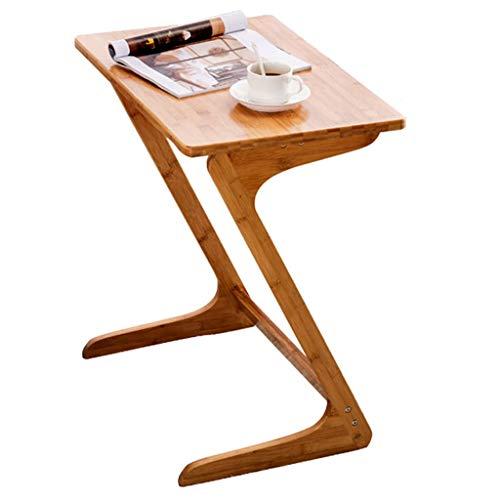 Table De Coin Table De Salon en Bois Massif Table D'appoint en Bambou Élégant Table De Salon en Forme De Z Table De Chevet pour Ordinateur Portable (Size : 55x35x60cm)