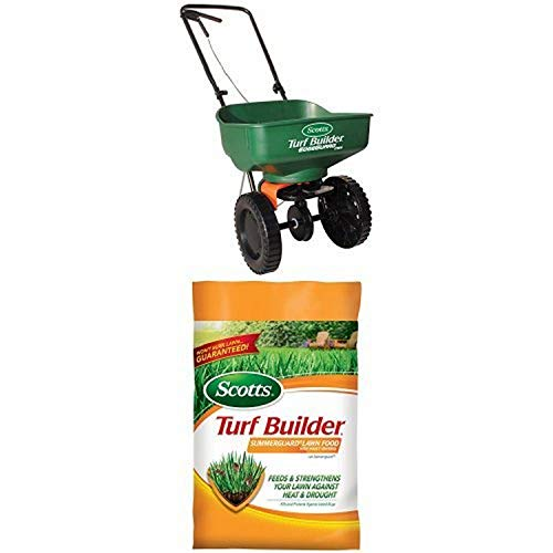 Scotts Turf Builder Mini Spreader & SummerGuard Lawn Food Bundle