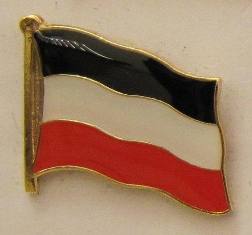 Buddel-Bini Versand Pin Anstecker Flagge Fahne Deutsches Kaiserreich Deutschland Flaggenpin Badge Button Flaggen Clip Anstecknadel