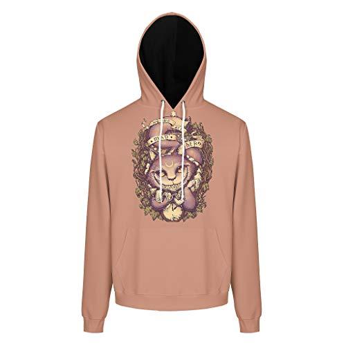 XHJQ88 Herren Kapuzenjacke Männer/Frauen Cheshire Cat Logo Original - Big Mouth Kapuzenpullover aus Baumwolle Weich Jacke White l
