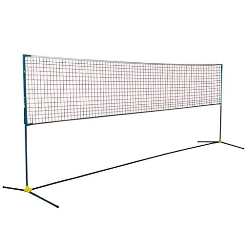 Qazxsw Badminton-Rack, bewegliches Standard-Net Faltbare Außen Außen einfach und leicht Badminton Rack-Struktur ist einfach,Schwarz,Net Width=410cm