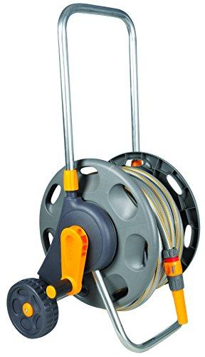 Hozelock - Carro portamangueras para 45 m de 12,5 mm - incluye 20 m de manguera y todos los accesorios - listo para su uso