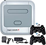 Super Console X, Retro Classic Video Game Consoles,Built in 50,000+ Games,54+ Emulators for 4K TV HD/AV Output,with Dual Wireless 2.4G Controllers Gamepads,Support WIFI/LAN,Up to 5 Players (X 256G)