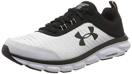 Under Armour UA Charged Assert 8 LTD, Zapatillas para Correr, Calzado Deportivo para Hombre, Blanco (White/White/Black (100) 100), 43 EU