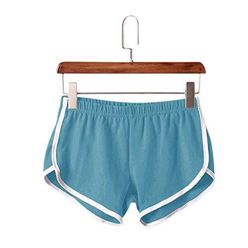 BOLANQ Vêtements Mujeres Casual Pantalones Cortos Deportivos sólidos de Verano Pantalones Cortos de Yoga de Entrenamiento Pantalones Cortos Activos
