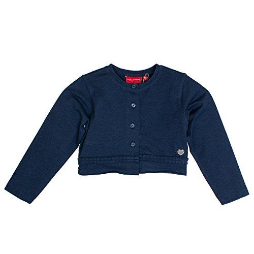 Salt & Pepper Mädchen Bolero Wonderful Uni Rüschen Jacke, Blau (Ink Blue Melange 481), 92 (Herstellergröße: 92/98)