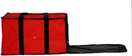 """Nylon Insulated Pizza / Food Delivery Bag 20"""" X 20"""" X 12"""" for Five 16"""" Pizza Boxes"""