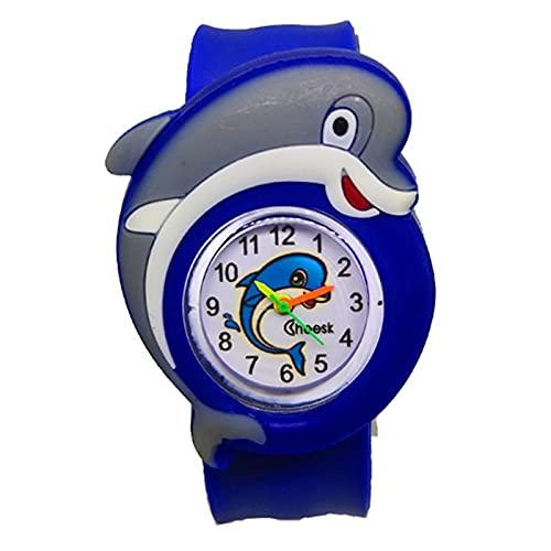Reloj Dropship Dibujos Animados Delfín Slap Niños Reloj Deportes Cuarzo Niños Niñas Relojes Regalos de Navidad Reloj Hombre Relogio
