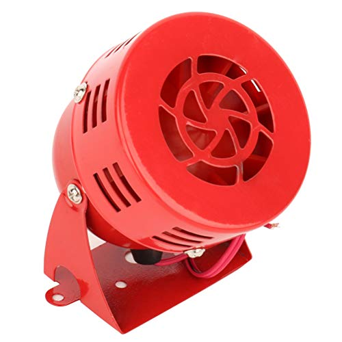 AUTOMUTO Driven Horn 12V Loud Alarm Horn for Train Car Truck Boat RV,Red