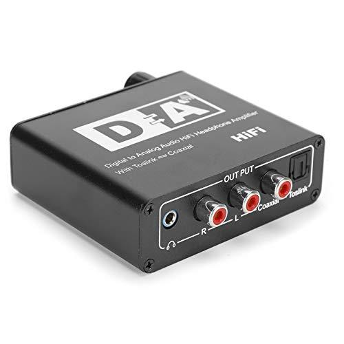 Shipenophy Convertidor de Salida de 3,5 mm Caja convertidora de Audio Auriculares Digitales coaxiales de Alta fidelidad(Black, European regulations)