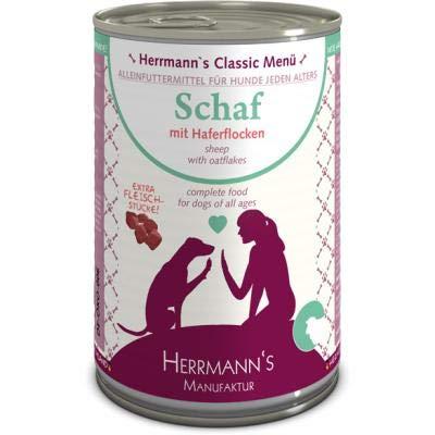 Herrmanns Schaf mit Haferflocken | 12x 400g Hundefutter