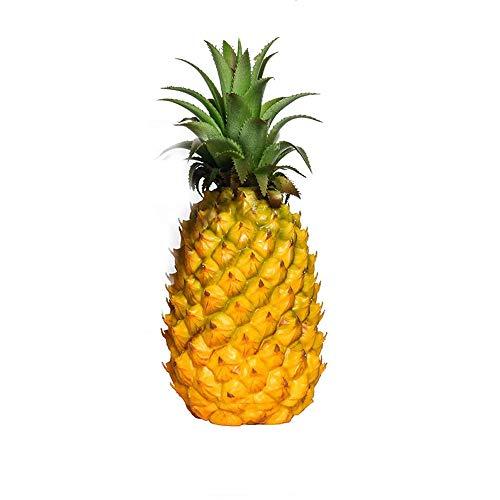 GRT Piña artificial realista simulación de piña falsa exhibición de frutas artificiales verduras para estudio de fotos accesorios de decoración juguetes artificiales para alimentos
