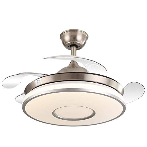 Moderne LED Frequenz Umwandlung unsichtbare Deckenventilator Lampe Esszimmer Luxus ruhige Fernbedienung Deckenleuchte mit Lüfter