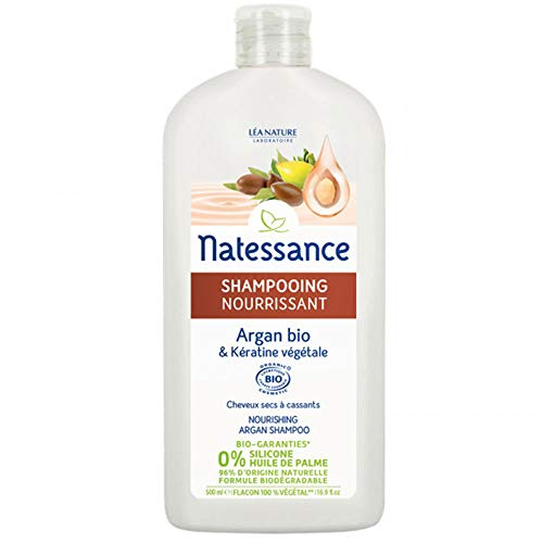 Natessance Shampooing Nourrissant Argan Bio et Kératine Végétale 500 ml