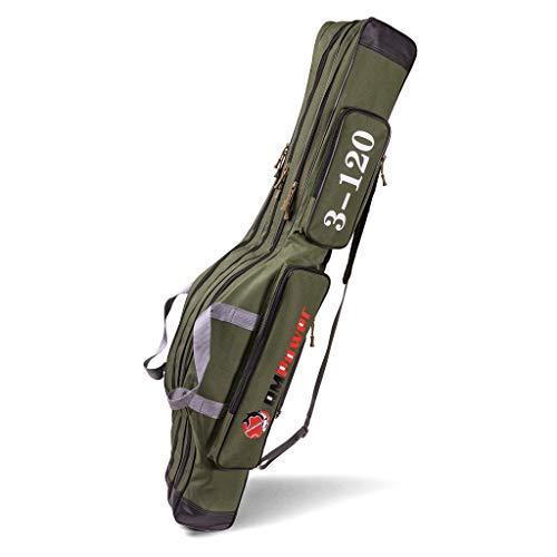 RMPower Angeltasche/Rutentasche 120 cm mit 3 Fächern für Zubehör - qualitäts Fishing Bag für Angelrute und Fischerei Zubehör - Rutenschutz für bis zu 6 montierte Angeln