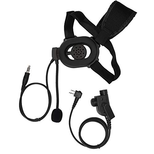 Casco de Motocicleta Auriculares con micrófono PTT HD01 M Head Talkie Walkie Radio Auriculares y Auriculares de una Cara con micrófono para Motorola para Bowman
