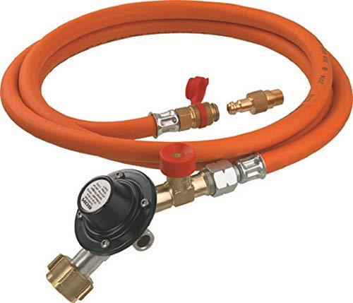 GOK Gasdruckregler mit Schlauch und Übergangsstück Niederdruckregler Regler Gas Camping Druckregler