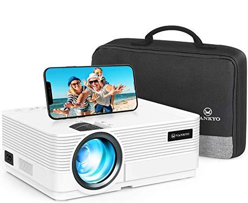 Videoprojecteur WiFi, VANKYO 5000 Lumens Projecteur Connexion WiFi Synchronisation 1080P Full HD Soutien Retroprojecteur , Compatible avec Smartphone, Tablette, Lecteur de Jeux, HDMI USB AV