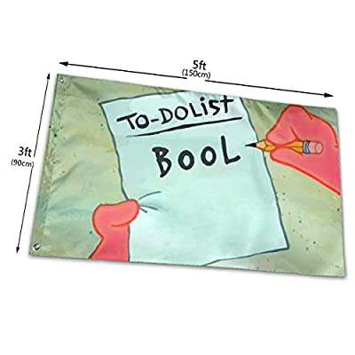 hlhhing to Do List Bool Flag Outdoor Decoration Banners for College Dorm Frat (3 X 5 Ft)