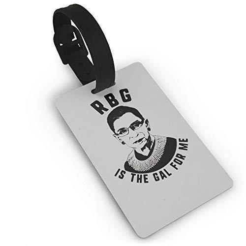 Ruth Bader Ginsburg Etiquetas de equipaje de cuero premium etiqueta de equipaje con correa protección de privacidad para identificador de viaje y etiquetas de maleta de PVC 5,6 x 9,4 cm