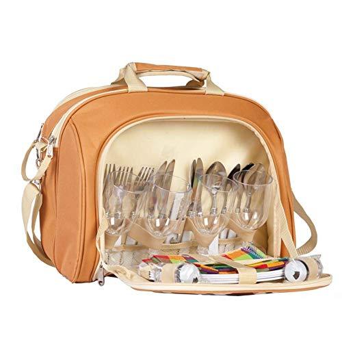 AYXN Outdoor-Picknickrucksack, Luxus-Handtasche Für Vier Personen, Schulranzen, Tragbare Reisetasche Für Den Campingurlaub, Picknick-Tasche Für Vier Personen