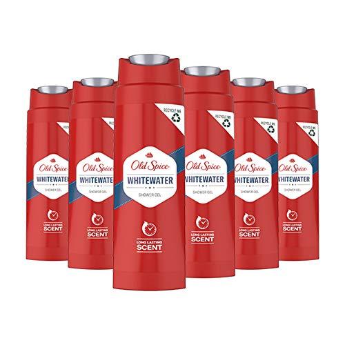 Old Spice Whitewater Duschgel, 6er Pack (6 x 250 ml), Showergel Mit Langanhaltendem Duft Für Männer, Herren Duschgel