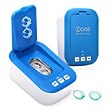 Contact Lens Cleaner, Portable Ultrasonic Contact Lens Cleaner Kit Daily Care Faster Cleaning for Contact Lens Blue (New Version) (Azure)