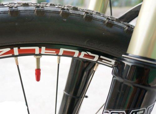 5x Fahrrad Presta Felgen Reifenstammluftventilkappen Staubschutz Rot - 3