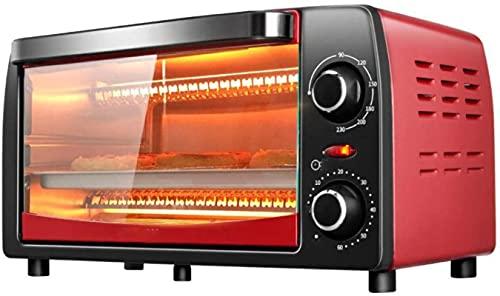 Mini horno 12L, 90-230 ° Control de temperatura ajustable, 40 minutos de apagado automático, horno eléctrico1050W
