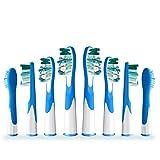 The Good Ersatz Aufsteckbürste, kompatibel mit Braun Oral B Sonic Vitalität, 4 Pack x 2 STK