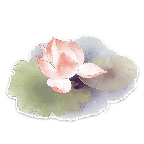 CTMNB Auto-sticker, 16,5 x 11 cm, lotusbloemen onder een zonnige, zomer, zon, autosticker, accessoires, stickers