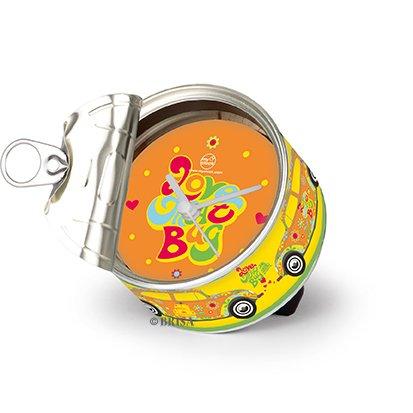Brisa VW Collection - Volkswagen Escarabajo Coche Beetle Reloj de Mesa Magnético, My Clock Personalizable, Regalo Original con Foto, Marco de Fotos, DIY (Flores/Amarillo)
