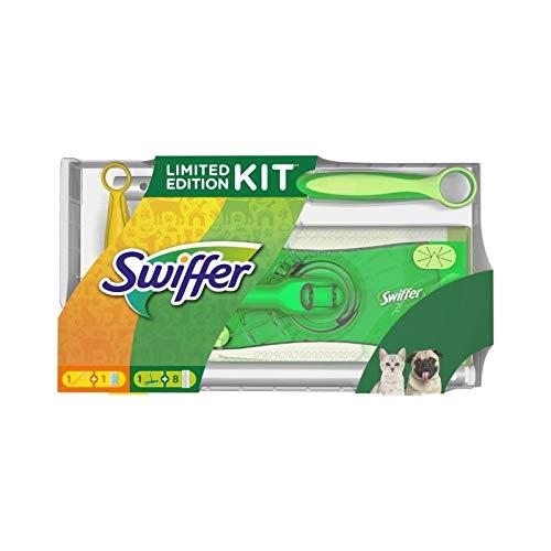 Swiffer Limited Edition 1Bodenwischer + 8Trockene Bodentücher + 1 Staubmagnet + 1 Tuch