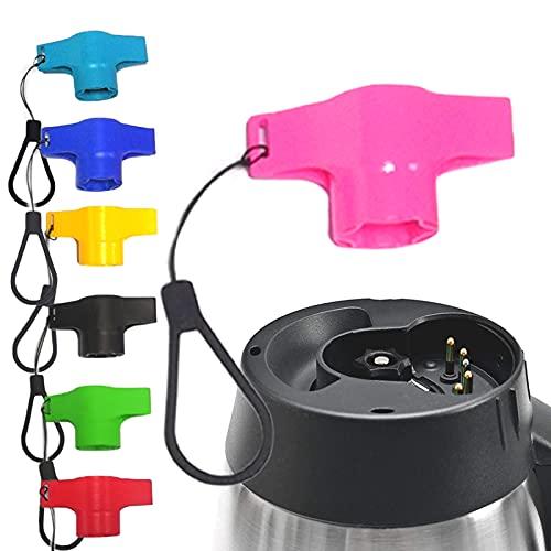 Teiglöser Schlüssel für Thermomix TM5 TM6 - Teigblume Messerdrehhilfe Drehhilfe Mühelos Werkzeug Zubehör kompatibel mit Vorwerk TM5 TM6 (mit Seil) (Rosa)