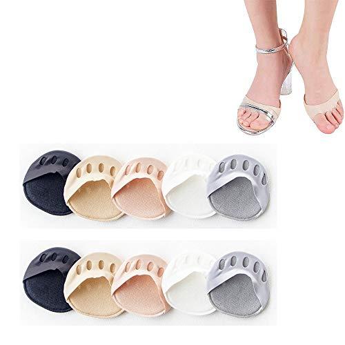 Honeycomb Fabric Forefoot Pads For Women, Foot pad, Ladies High Heel Shoe Pad (Schwarz, 3 Paare)