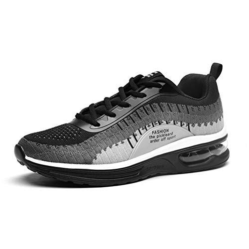CXQWAN Chaussures de Marche légères pour Homme Antidérapant Résistant à l'usure Convient pour la Marche, la Gym, Le Jogging, Le Fitness athlétique, Gris, 44