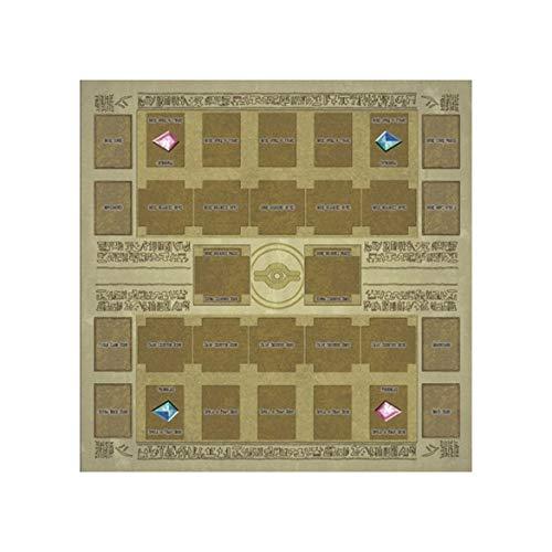 ngzhongtu Juego de Cartas Alfombrilla de Goma de 60x60 cm Dennis World Type Competition Pad para Tarjeta Yu-gi-oh - Marrón