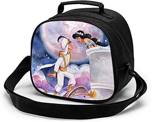 Aladdin's Lamp - Bolsa de almuerzo para niños, reutilizable, portátil, bolsa de comida térmica con correa para el hombro y asa