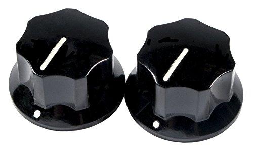 Botones Fender negros para guitarra Jaguar Mustang y bajo Mustang estilo vintage