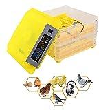 BSJZ Incubatrice per Uova Rotazione Automatica 112 Uova Incubatrici digitali Luce a LED Integrata Schiusa per pollame Cova Pollo Anatre Oca Piccione Quaglia