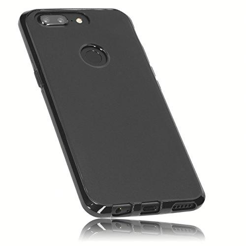 mumbi Hülle kompatibel mit OnePlus 5T Handy Hülle Handyhülle, schwarz