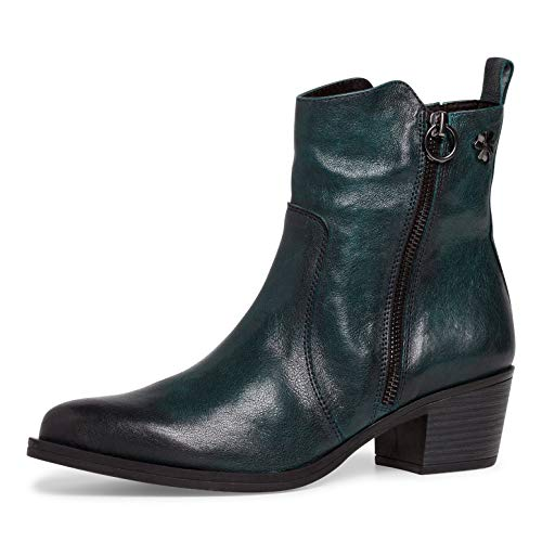 MARCO TOZZI Damen by Guido Maria Kretschmer Leder 2-2-85301-25 Stiefelette, Green Antic, 40 EU