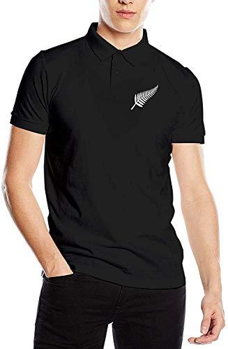 Camiseta Polo de Manga Corta con Estampado de helechos maoríes de Nueva Zelanda para Hombre