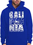 CaliDesign Men's Royal Blue California Hoodie Bandana Crip Pullover Sweatshirt, 3X - XXXL - 3XL