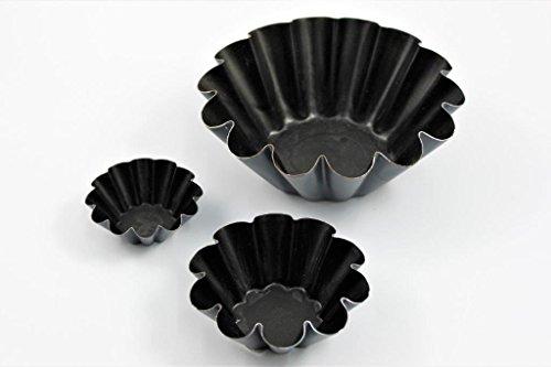 Matfer Brioche-Form mit Exopanbeschichtung 6 Stück, Größe:90 mm Ø. 32 mm hoch