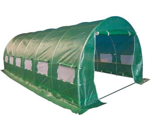 BIRCHTREE 6M(L) x 3M(W) x 2M(H) Polytunnel Greenhouse