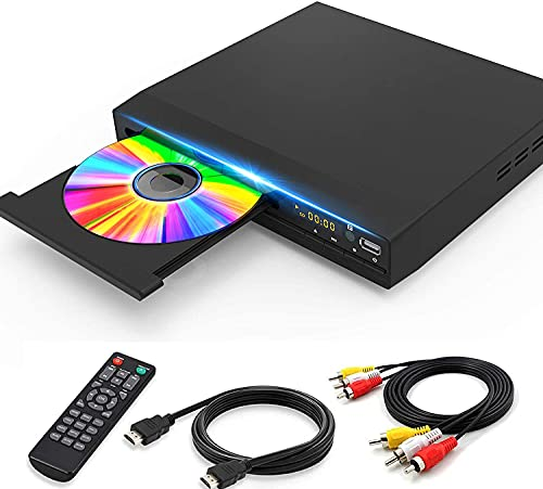 DVD Player for TV with HD 1080p Upscaling, HDMI & AV & Coaxial Output Included