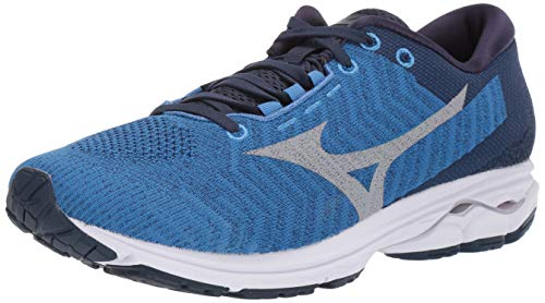 Mizuno Men's Wave Rider 23 WAVEKNIT Running Shoe, Campanula-Vapor Blue, 10.5 D