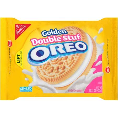 Golden OREO Double Stuf Cookies 15.25 OZ (432g)
